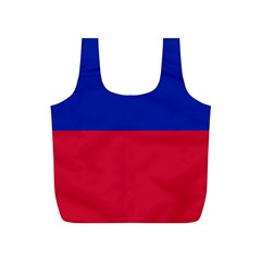 Civil Flag Of Haiti (without Coat Of Arms) Full Print Recycle Bags (s)  by abbeyz71