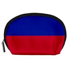 Civil Flag Of Haiti (without Coat Of Arms) Accessory Pouches (large)  by abbeyz71