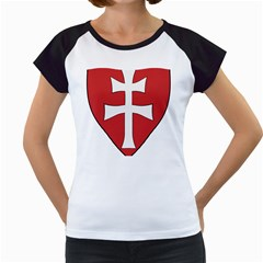 Coat Of Arms Of Apostolic Kingdom Of Hungary, 1172-1196 Women s Cap Sleeve T by abbeyz71
