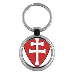 Coat Of Arms Of Apostolic Kingdom Of Hungary, 1172-1196 Key Chains (round)  by abbeyz71