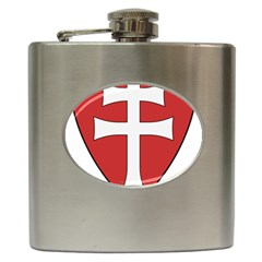 Coat Of Arms Of Apostolic Kingdom Of Hungary, 1172-1196 Hip Flask (6 Oz) by abbeyz71
