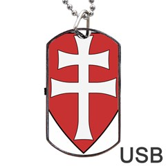 Coat Of Arms Of Apostolic Kingdom Of Hungary, 1172-1196 Dog Tag Usb Flash (one Side) by abbeyz71