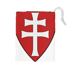 Coat Of Arms Of Apostolic Kingdom Of Hungary, 1172-1196 Drawstring Pouches (large)  by abbeyz71
