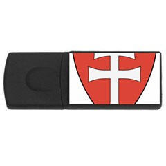 Coat Of Arms Of Apostolic Kingdom Of Hungary, 1172 1196 Usb Flash Drive Rectangular (4 Gb) by abbeyz71