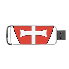 Coat Of Arms Of Apostolic Kingdom Of Hungary, 1172 1196 Portable Usb Flash (two Sides) by abbeyz71