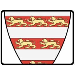 Hungarian Kings (1000-1301) & Seal Of King Emeric (1202) Fleece Blanket (large)  by abbeyz71