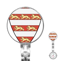 Hungarian Kings (1000 1301) & Seal Of King Emeric (1202) Stainless Steel Nurses Watch by abbeyz71