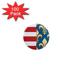 Angevins Dynasty Of Hungary Coat Of Arms 1  Mini Magnets (100 Pack)  by abbeyz71