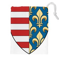 Angevins Dynasty Of Hungary Coat Of Arms Drawstring Pouches (xxl) by abbeyz71