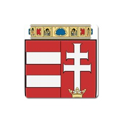 Medieval Coat Of Arms Of Hungary  Square Magnet by abbeyz71