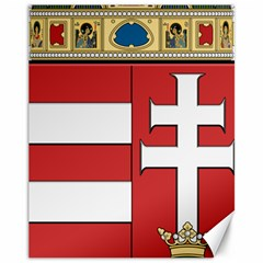 Medieval Coat Of Arms Of Hungary  Canvas 11  X 14   by abbeyz71