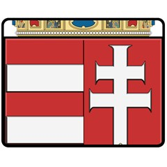 Medieval Coat Of Arms Of Hungary  Fleece Blanket (medium)  by abbeyz71