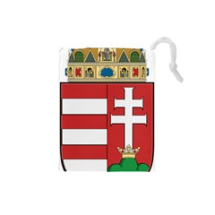 Medieval Coat Of Arms Of Hungary  Drawstring Pouches (small)  by abbeyz71