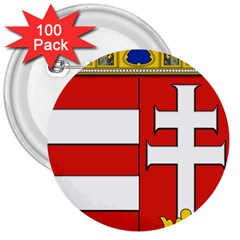 Medieval Coat Of Arms Of Hungary  3  Buttons (100 Pack)  by abbeyz71