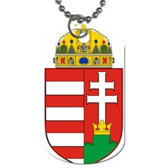 Medieval Coat Of Arms Of Hungary  Dog Tag (one Side) by abbeyz71