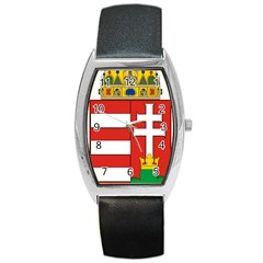 Medieval Coat Of Arms Of Hungary  Barrel Style Metal Watch by abbeyz71