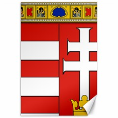 Medieval Coat Of Arms Of Hungary  Canvas 24  X 36  by abbeyz71
