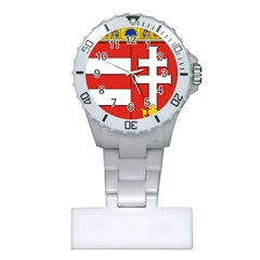 Medieval Coat Of Arms Of Hungary  Plastic Nurses Watch by abbeyz71