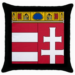 Coat Of Arms Of Hungary Throw Pillow Case (black) by abbeyz71