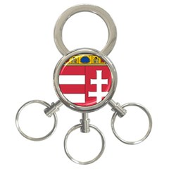 Coat Of Arms Of Hungary 3-ring Key Chains by abbeyz71