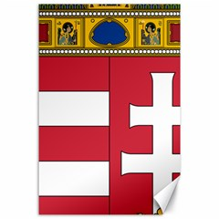 Coat Of Arms Of Hungary Canvas 24  X 36  by abbeyz71