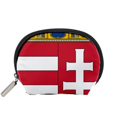 Coat Of Arms Of Hungary Accessory Pouches (small)  by abbeyz71