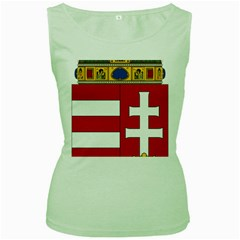 Coat Of Arms Of Hungary  Women s Green Tank Top by abbeyz71