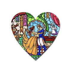 Happily Ever After 1   Beauty And The Beast Heart Magnet by storybeth
