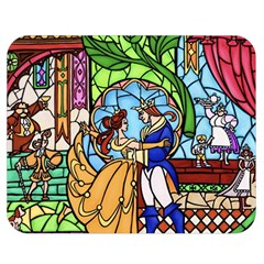 Happily Ever After 1   Beauty And The Beast Double Sided Flano Blanket (medium)  by storybeth