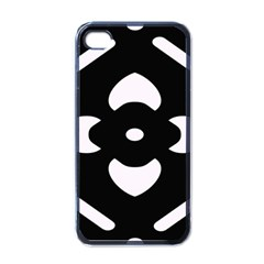 Black And White Pattern Background Apple Iphone 4 Case (black)