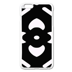 Black And White Pattern Background Apple Iphone 6 Plus/6s Plus Enamel White Case by Nexatart