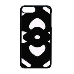 Black And White Pattern Background Apple Iphone 7 Plus Seamless Case (black)