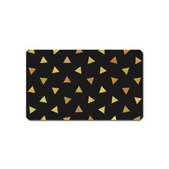 Shapes Abstract Triangles Pattern Magnet (name Card) by Nexatart