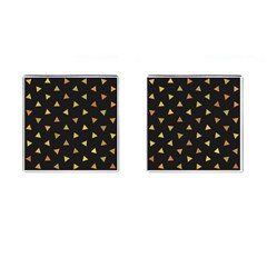 Shapes Abstract Triangles Pattern Cufflinks (square) by Nexatart