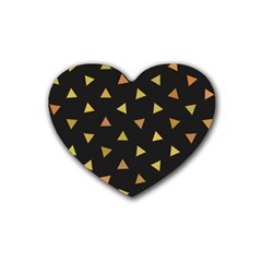 Shapes Abstract Triangles Pattern Heart Coaster (4 Pack)  by Nexatart