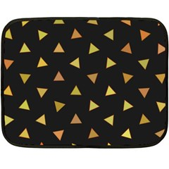 Shapes Abstract Triangles Pattern Fleece Blanket (mini) by Nexatart