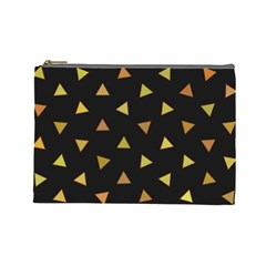 Shapes Abstract Triangles Pattern Cosmetic Bag (large)  by Nexatart