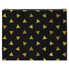Shapes Abstract Triangles Pattern Cosmetic Bag (xxxl)  by Nexatart