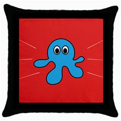 Creature Forms Funny Monster Comic Throw Pillow Case (black) by Nexatart