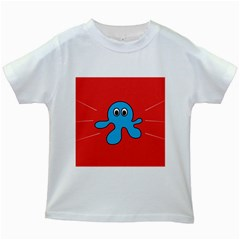 Creature Forms Funny Monster Comic Kids White T Shirts by Nexatart