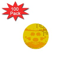 Texture Yellow Abstract Background 1  Mini Buttons (100 Pack)  by Nexatart