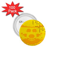 Texture Yellow Abstract Background 1 75  Buttons (100 Pack)