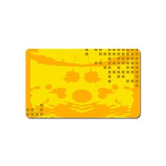 Texture Yellow Abstract Background Magnet (name Card) by Nexatart