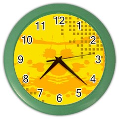 Texture Yellow Abstract Background Color Wall Clocks