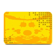 Texture Yellow Abstract Background Plate Mats by Nexatart