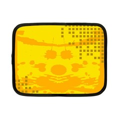 Texture Yellow Abstract Background Netbook Case (small)  by Nexatart