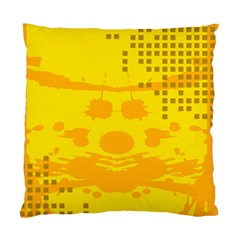 Texture Yellow Abstract Background Standard Cushion Case (one Side) by Nexatart