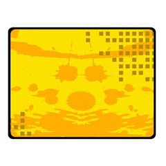 Texture Yellow Abstract Background Fleece Blanket (small)