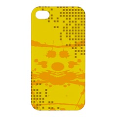 Texture Yellow Abstract Background Apple Iphone 4/4s Hardshell Case