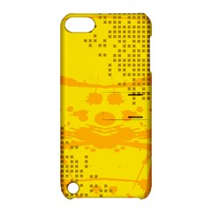 Texture Yellow Abstract Background Apple Ipod Touch 5 Hardshell Case With Stand by Nexatart